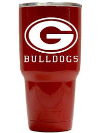 Georgia Bulldog Football Die Cut Decal Yeti Rtic Ozark Oracal 751c Vinyl 1887937839