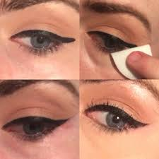 easy winged eyeliner trick makes your