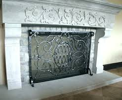 arched fireplace screen arrayx co