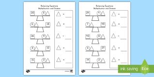 balancing multiplication and division