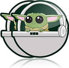 Amazon Com Baby Yoda Self Adhesive Car Decal 2 Pack Waterproof Vinyl Sticker For Your Car Truck Or Laptop Arts Crafts Sewing