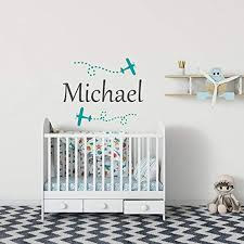 Amazon Com Airplane Name Wall Decal Wall Decals For Boys Boys Nursery Wall Decal Airplane Decor Wall Decals Kids Wall Decals Nursery Boys Decor Home Kitchen