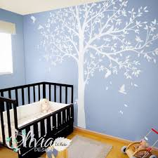 Large White Family Tree Wall Decal Tree Wall Decal Wall Mural Etsy