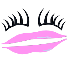 Pink Lips Eyelashes Car Decal Decoration Just Pink About It