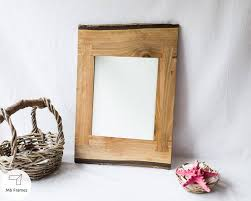 unique mirror walnut wood rustic