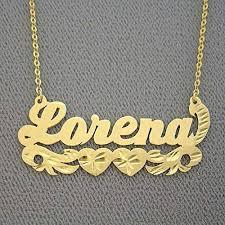 10k gold name necklace diamond cut