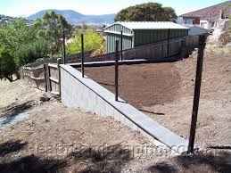 Block Wall With Metal Fence By Heath Landscaping Southern Tasmania March 2013 020 Jolian Heath Landscaping