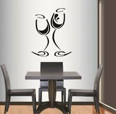 Vinyl Decal Wine Glass Glass Kitchen Dining Winery Bar Wall Sticker Decor 596 Ebay