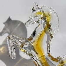 prancing horse in murano glass venice