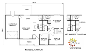 house plan 94442 with 1200 sq ft
