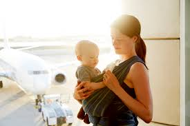 how to fly with a baby out of the blue