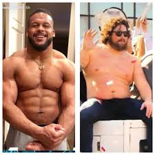 Aaron Donald and his daddy. : Patriots