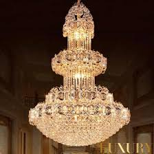 crystal glass ceiling light round gold