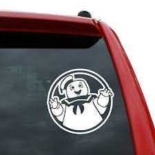 Ghostbusters Stay Puft Marshmallow Man Vinyl Decal Color White 5 Tall Ebay