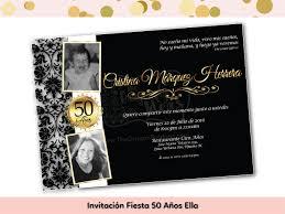 Invitacion Fiesta 50 Anos Ella The Dragonfly Ideas Shop