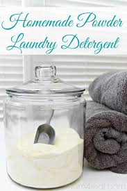 homemade laundry detergent recipe for