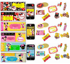 Kit Imprimible De Minnie Mouse Personalizado 100 Cumplearte