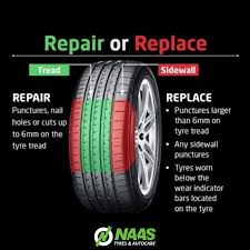 should i repair or replace a damaged tyre