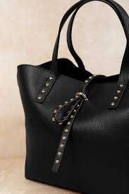 studded leather polo tote bag