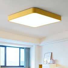 yellow green square led ceiling lights