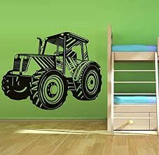 Amazon Com Gykjf Wall Sticker Cartoon Tractors Wall Sticker Kids Room Vinyl Removable Tractor Wall Decal Nursery Kids Room Decal For Boys Bedroom Decor75x58cm Home Kitchen