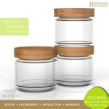 borosilicate glass storage jar