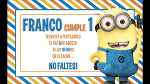 Invitacion De Los Minions Gratis 100 Editable Youtube