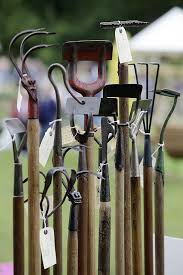 vintage tools from garden wood