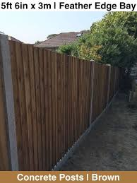 G G 5ft 6in 1650mm X 3m Feather Edge Bay Brown