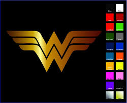 Dc Comics Justice League Wonder Woman Logo Car Window Sticker Decal Family 6