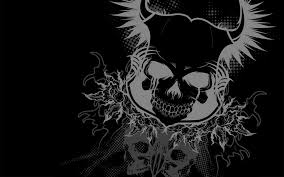 gray and black skeleton wallpaper