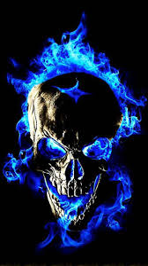 blue flame skull fire fire cool skull