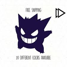 Pokemon Gengar Vinyl Decal Sticker Car Laptop Gastly Haunter Ghost Sun Moon Ebay