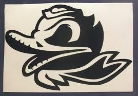 Oregon Ducks Combat Duck Decal Car Window Sticker Vinyl 6 X 4 Inches Ebay
