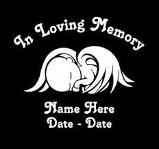 In Loving Memory Vinyl Decal Stickers Baby Wings Sticker Flare Llc