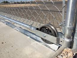 Roll Gate Wheel Options All American Fence Erectors