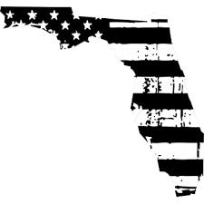 Amazon Com Evan Decals State Of Florida Black White Tattered Flag Window Decal Vinyl Sticker 6 Automotive