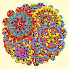 Fondo Floral Hecho De Muchos Mandalas Forma Redonda Bueno Para