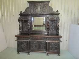 very large victorian gothic carved oak