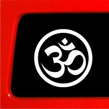Amazon Com Sticker Connection Om Ohm Yoga Bumper Sticker Decal For Car Truck Window Laptop 4 White Automotive