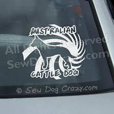 Spiral Australian Cattle Dog Decal Sew Dog Crazy