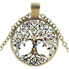 celtic tree of life pendant glass