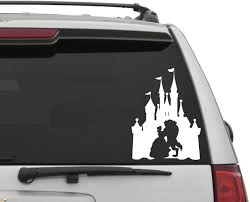 Amazon Com Yingkai Beauty And The Beast Car Decal Vinyl Wall Decal Sticker Vinyl Lettering Removable Decal For Car Laptop Decoration White 6x6 In Home Kitchen