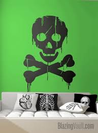 Dripping Skull And Bones Poison Sign Wall Decal Hazardous Etsy