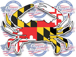 Maryland Blue Crab Vinyl Decal Sticker For Car Truck Suv Windows Glass