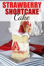 strawberry shortcake cake rose bakes