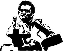Johnny Cash Middle Finger Decal Sticker Decalmonster Com