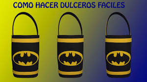 Como Hacer Dulceros De Batman Cotillones De Batman En Foami Youtube