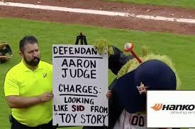 Astros said Aaron Judge looks like Sid ...