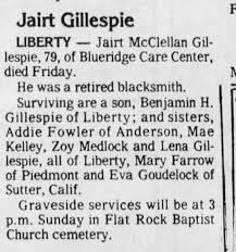 Jairo Gillespie Obit - Newspapers.com